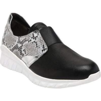 ナオト Naot レディース スリッポン・フラット スニーカー シューズ・靴 Intrepid Slip-On Sneaker Soft Black/Gray Cobra/Silver Mirror Leather