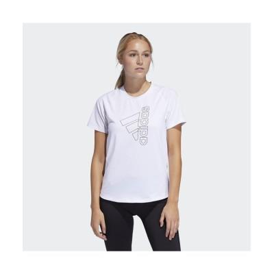 【販売主:スポーツオーソリティ】 アディダス/レディス/W D2M TECH BOS Tシャツ レディース ホワイト/ブラック L SPORTS AUTHORITY