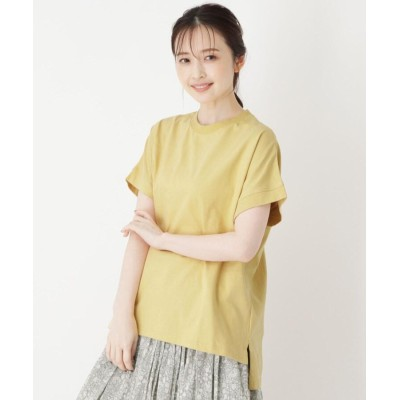 one'sterrace(ワンズテラス) ◆USAコットン(綿)フレンチ袖ビッグプルオーバー