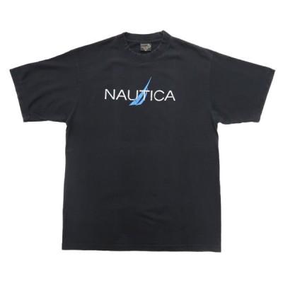NAUTICA ノーティカ プリントTシャツ ブラック サイズ表記:XL