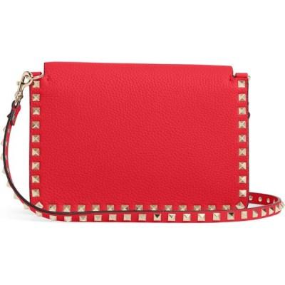 ヴァレンティノ VALENTINO GARAVANI レディース ショルダーバッグ バッグ Small Rockstud Calfskin Leather Shoulder Bag Rouge Pur
