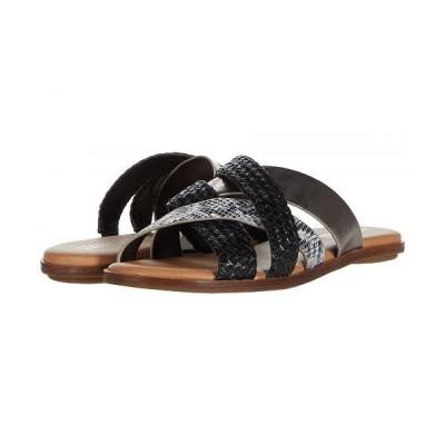 Aerosoles エアロソールズ レディース 女性用 シューズ 靴 サンダル Martha Stewart Sandra - Black/White Snake