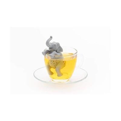 カロラータ アニマル 茶こし (アジアゾウ) シリコン 動物 ティーストレーナー [食洗機可能] ティーインフューザー 約3.8×10×4.