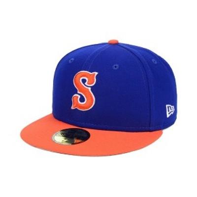 ニューエラ メンズ 帽子 アクセサリー Syracuse Mets AC 59FIFTY Fitted Cap Light Royal/Orange