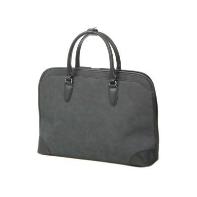 ブリーフケース/ビジネスバッグ/メンズ/三方開きブリーフケース グレー×ブラック