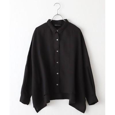 MARcourt/マーコート linen wide shirt black FREE