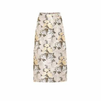 ブロック コレクション Brock Collection レディース ひざ丈スカート スカート Floral brocade midi skirt Light Beige