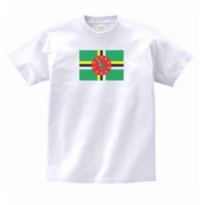 国 国旗 Tシャツ ドミニカ 白