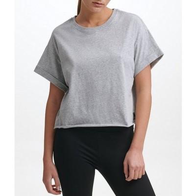 ダナ キャラン ニューヨーク レディース Tシャツ トップス Sport Patch Logo Cropped Boxy Tee
