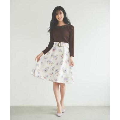 LAISSE PASSE / レッセパッセ ウィンターフラワープリントスカート