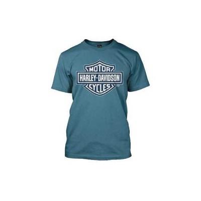 メンズ ウェア Tシャツ ハーレーダビッドソン Harley-Davidson Mens Navy Bar Shield Blue Slate T-Shirt 30290594