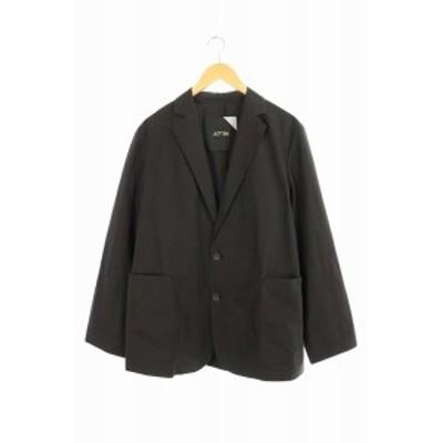 【中古】エイトン ATON 20SS オーバーサイズ ジャケット テーラード 2B 02 黒 /AA ■OS メンズ
