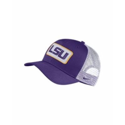 ナイキ メンズ 帽子 アクセサリー LSU Tigers Patch Trucker Cap Purple/White