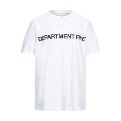 デパートメント 5 DEPARTMENT 5 T シャツ ホワイト L コットン 100% T シャツ