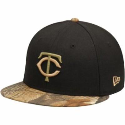 New Era ニュー エラ スポーツ用品  New Era Minnesota Twins Black Realtree 59FIFTY Fitted Hat