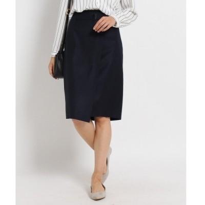 ◆〔洗える〕マイクロギャバミディ丈スカート