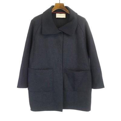 HARRIS WHARF LONDON ハリスワーフロンドン インサウドアウトデザインコート ジャケット ネイビー  レディース