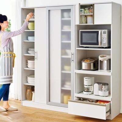 ベルーナインテリア 新・スタイリッシュなキッチン収納シリーズ ホワイト 家電収納 レディース