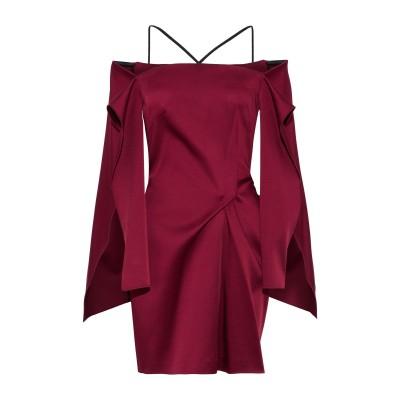 ローラン ムレ ROLAND MOURET ミニワンピース&ドレス ボルドー 8 アセテート 70% / レーヨン 26% / ポリウレタン 4%