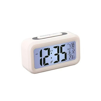 CAZOKASIめざまし時計 スヌーズ機能 デジタル時計 アラーム 温度 カレンダーなどの機能が付き コンバクト目覚ま