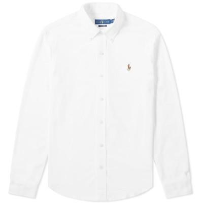ラルフ ローレン Polo Ralph Lauren メンズ シャツ トップス Button Down Oxford Pique Shirt White