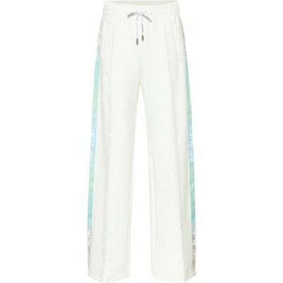 オフ-ホワイト Off-White レディース スウェット・ジャージ ボトムス・パンツ Wide-leg tackpants white