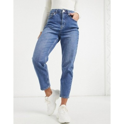 オアシス レディース デニムパンツ ボトムス Oasis Monroe mum jeans in blue Denim