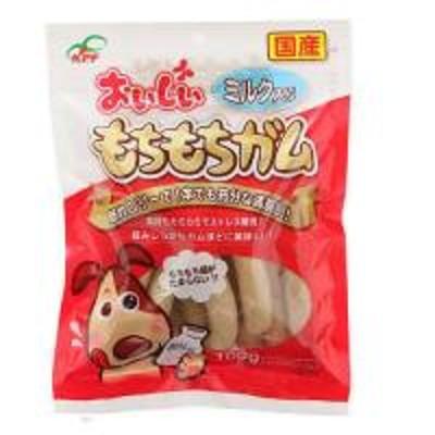 九州ペットフード おいしいもちもちガムミルク入り100g 犬 おやつ デンタルケア 犬 おやつ ガム