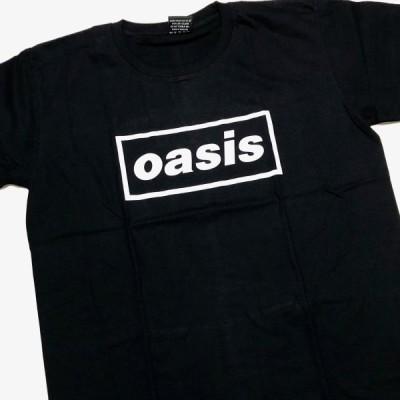オアシス oasis UKロックTシャツ シンプル ブラック
