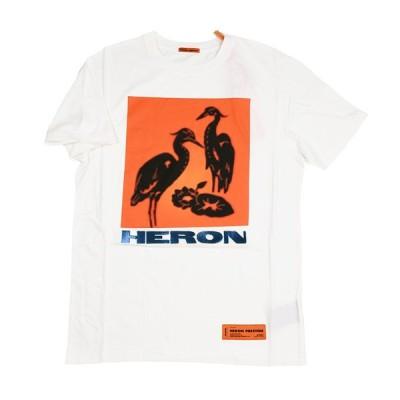 HERON PRESTON ヘロンプレストン ホワイト半袖Tシャツ イタリア正規品 メンズ 新品 HMAA004F197600030288