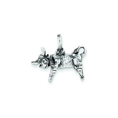 スターリング シルバー アンティーク Taurus ペンダント ネックレス チェーン インクルード(海外取寄せ品)