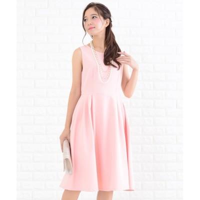 ドレス シンプルAラインシルエットワンピース・ドレス