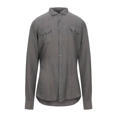 トラサルディ ジーンズ TRUSSARDI JEANS シャツ 鉛色 M リネン 100% シャツ