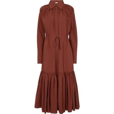 デヴォー ニューヨーク Deveaux New York レディース ワンピース シャツワンピース ワンピース・ドレス Samira cotton shirt dress Terra Cotta