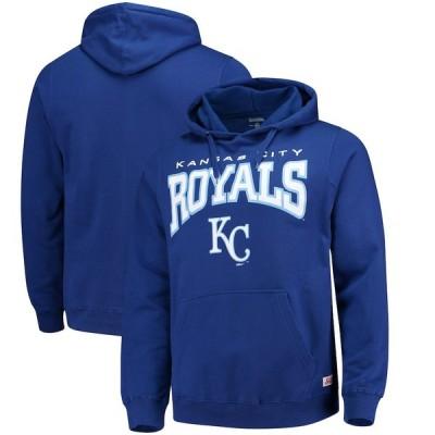 """メンズ パーカー """"Kansas City Royals"""" Stitches Team Pullover Hoodie - Royal"""