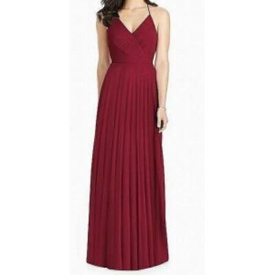 Jenny Yoo ジェニーヨー ファッション ドレス Jenny Yoo NEW Red Womens Size 12 Ruffle Trim V-Neck Sheath Dress
