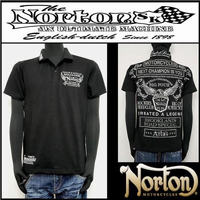 ポロシャツ/Norton/MAXポロ/ブラック/Lサイズ/202N1200
