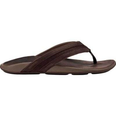 オルカイ OluKai メンズ ビーチサンダル シューズ・靴 'Ikoi Flip Flop Dark Wood/Dark Wood