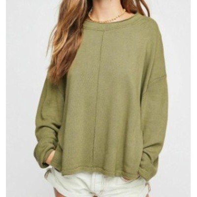 Free People フリーピープル ファッション トップス Free People NEW Green Womens Size Medium M Hi-Lo Pullover Sweater
