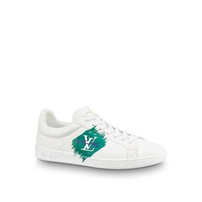ルイヴィトン LOUIS VUITTON スニーカー シューズ 靴 ホワイト グリーン カーフレザー