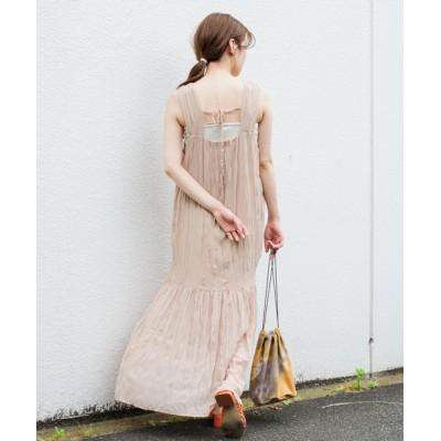【WEB限定】ワッシャーシフォン無地ワンピース