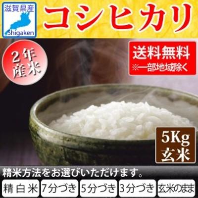令和2年 滋賀県産コシヒカリ5kg玄米S【精米方法が選べます】【送料無料※一部地域除く】