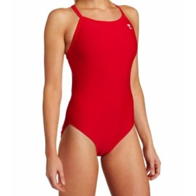 tyr ティア スポーツ用品 スイミング TYR NEW Red Womens Size 36 One-Piece Cutout-Back Solid Swimwear