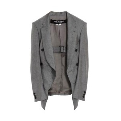 JUNYA WATANABE COMME DES GARCONS/ジュンヤ ワタナベ コム デ ギャルソン Gray Belted double-breasted blazer レディース 春夏2021 JGJ
