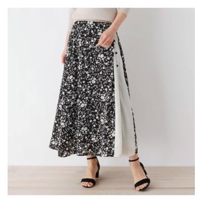【グローブ/grove】 パターンMIXサイドボタンロングスカート