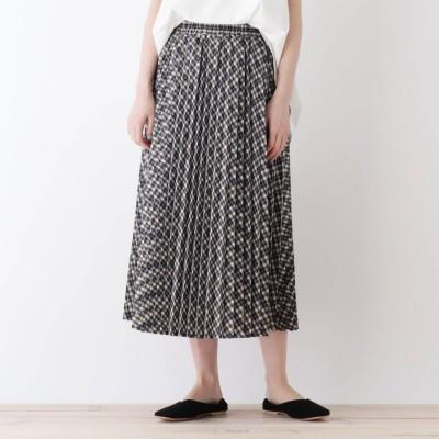 シューラルー SHOO-LA-RUE プリーツスカート (ネイビー)