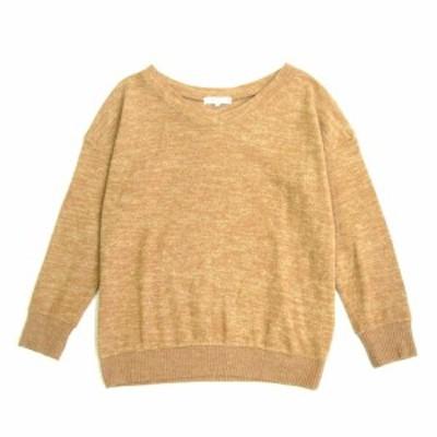 【中古】ナチュラルビューティーベーシック NATURAL BEAUTY BASIC 起毛 ニット セーター カットソー ストレッチ M