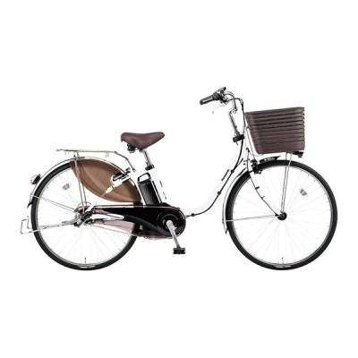 PANASONIC BE-ELD436-F アクティブホワイト ビビ・DX [電動アシスト自転車(24インチ・内装3段)] 電動自転車