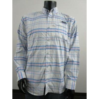 columbia コロンビア ファッション アウター Mens M Columbia PFG Super Harborside Woven Long Sleeve Fishing Shirt Plaid Blue