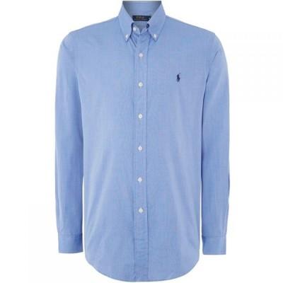ラルフ ローレン Polo Ralph Lauren メンズ シャツ トップス Long Sleeve Button Down Collar Shirt Light Blue